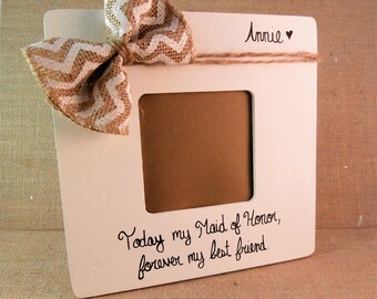 Personalized bridesmaid gift ideas picture frame- Maid of honor gift sister