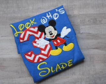 Sale Sale!!Boys Mickey Mouse Birthday Shirt