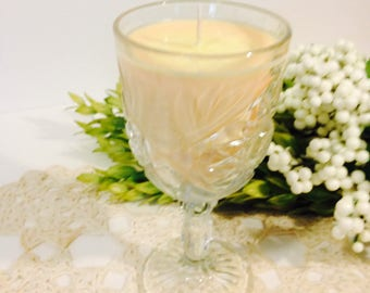 Wine Glass Soy Candle