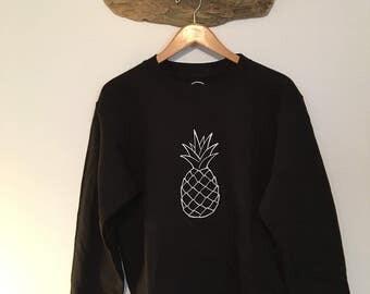 Pineapple//Crew Neck Sweater//