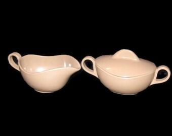 Vintage Melmac, Cream And Sugar Bowls, Vintage Set, Serving Set, Kitchen, Retro Melmac, Creamer, Sugar Bowl, Mocha Set, Spring Brown Melmac
