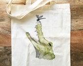 100% Organic Cotton Tote Bag - Alligator