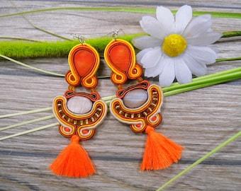 earrings / soutache technique / handmade 11cm