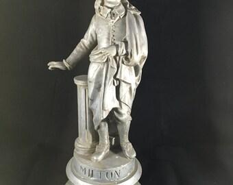John Milton Spelter Statue Paradise Lost