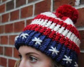 American Flag Stars & Stripes Beanie