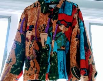 Vintage 70s Kaktus Shirt Jacket