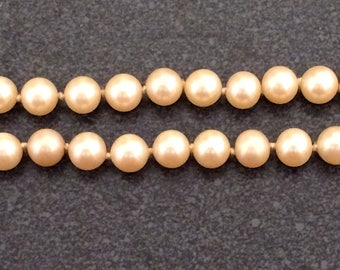 """Vintage Artificial Pearls Single Strand Necklace 21"""" Long"""