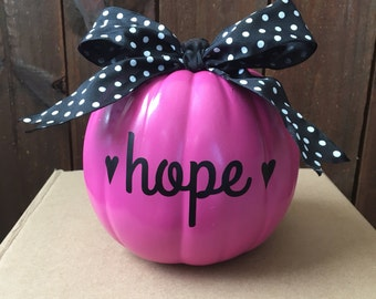 pink mini pumpkin