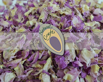 Dried Pale Pink and Cream Rose Petals - suitable for wedding confetti - biodegradable