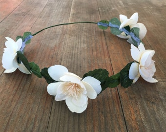 Ivory Magnolia Flower Crown