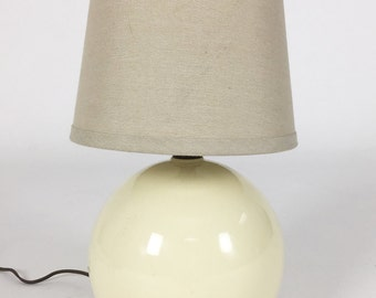 Vintage Off-White Spherical Table Lamp