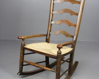Stained Beech Rocking Chair