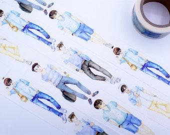 Model Boys  Washi Tape/Deco Masking Tape/Planner Sticker/ Scrapbook Tape/ Deco tape   TZ602