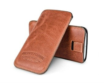 iPhone 7 Plus Pouch, iPhone 6S Plus Sleeve, Leather Phone Case