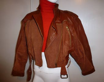 very vintage leather short jacket