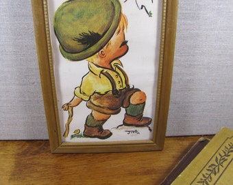 Small Framed Print - Josie - Heins - German Boy