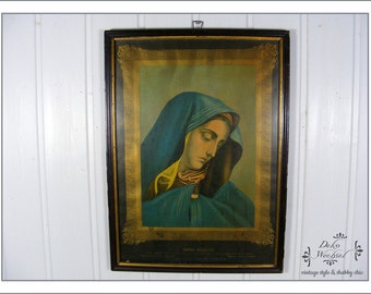 """antique image """"Mater Dolorosa"""" from 1880"""