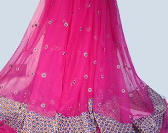 Designer long Embroidery Lehenga/Skirt with golden emboidery blouse For Women | Party ware Lehanga / Long skirt
