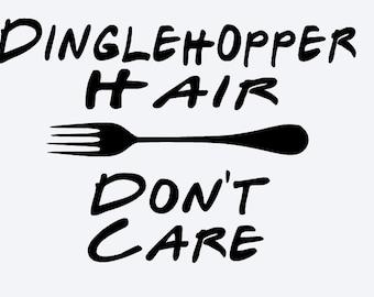 SVG, disney, dinglehopper hair dont care, the little mermaid, dinglehopper,   silhouette,  cut file, cricut, silhouette, instant download