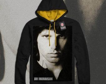 The Doors Band James Morrison Men Black (Gold Hood) Contrast Hoodie S-2XL NEW | Wellcoda *q1495 & The doors hoodie | Etsy Pezcame.Com