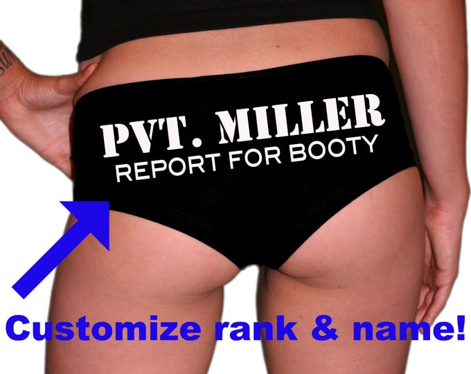 Custom Rank/Name Report For Booty Military Underwear