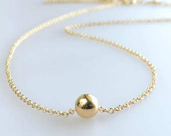 Choker Gold Dainty - Tiny Ball Necklace - Dainty Gold Choker Necklace - Simple Gold Layering Necklace - Avail Silver & Rose Gold