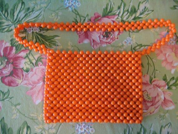 Lady Ellen Orange Beaded Bag
