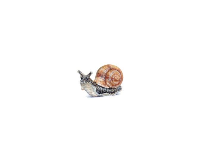 Original Miniature painting of a Snail. Tiny painting, Snail  tiny art 5 x 5