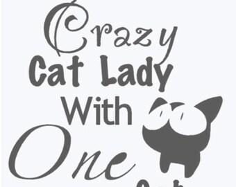 Crazy cat lady vinyl decal/sticker/iron on