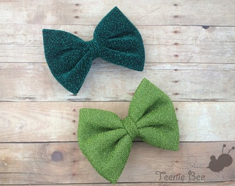 St Patrick's Day Hair Bow - Baby St. Patrick's Day Hair Bow - Green Hair Bow