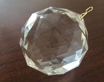 50mm Faceted Chandelier Crystal Ball- Crystal Prism- Crystal Suncatcher- Feng Shui
