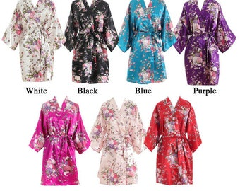 Floral Bridal Party Robes