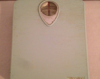 Scale weighs person TERRAILLON 120 kg Vintage sky blue