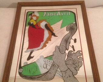 Former wife JANE drawing mirror April Vintage Rare!