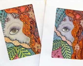 Fine Art Greeting Cards Set of Two: Flirtation