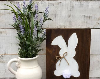 Bunny/ easter/ bunny sign/ rabbit sign/ wood sign/ signs/ home decor/ easter decor/ easter sign/ spring decor/