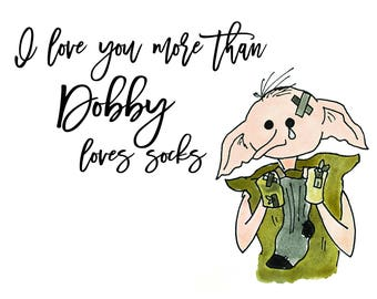 Dobby Greeting Card
