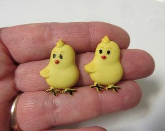 FREE SHIPPING! Easter Chick Stud Earrings-Easter Earrings