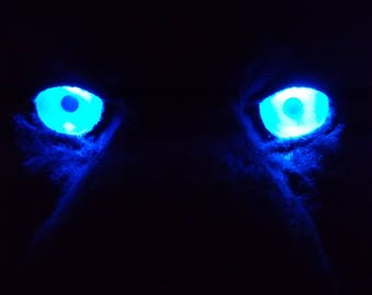 Custom LED Fursuit Eyes, AA Battery Resin, One pair of follow-me 3D acrylic eyes for jewelry, costumes, Furry costumes