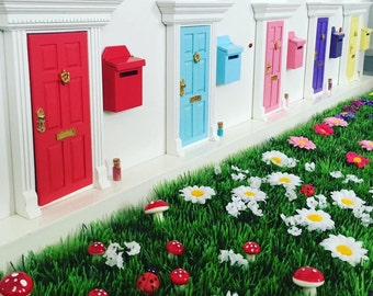 Magic fairy door gift set with fairy mail box, fairy dust, magic key and fairy garden