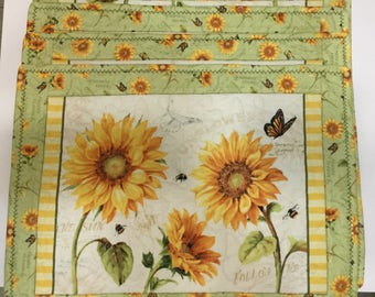 Sunflower Quilted Placemats (4)