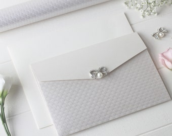 Classic Pocketfold Wedding Invitation - Ava