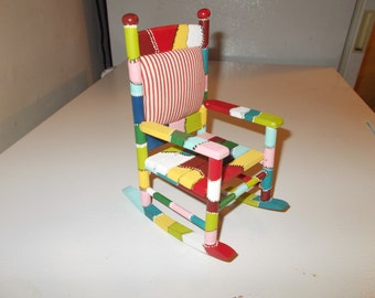 Patchwork Doll Rocking Chair