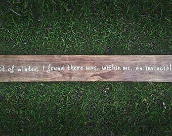 Large Custom Quote on Reclaimed Wood