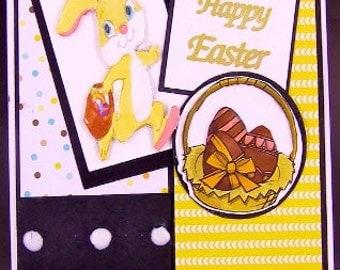 Easter Bunny Card, Happy Easter Card, Easter Basket Card