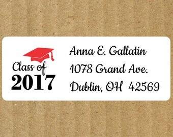 Graduation Address Labels, 90 Labels, Graduation Return Address Labels, Graduation, Graduation Return Labels, Class of Labels