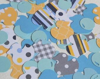 Rubber Duck Confetti - Rubber Ducky Baby Shower Decor - Ducks and Bubbles - Rubber Ducky Birthday - Hootsie