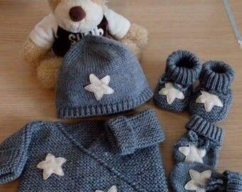 All bra Hat 0ã 3 months booties