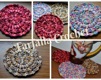 Drink Mandala Tea Coasters Cup Mandala Crochet Mandala Crochet Coasters Mug mandala Crochet Motif Home Decor