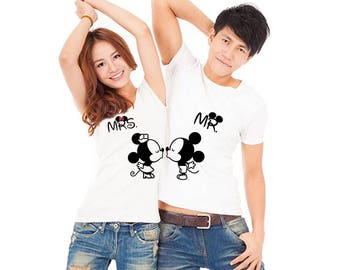 Mickey & Minnie, Download, Stamp Design, x2 Couple T-Shirts STAMP SET, couple, Gift For him, Gift For her, Gift for Couple, Lovers